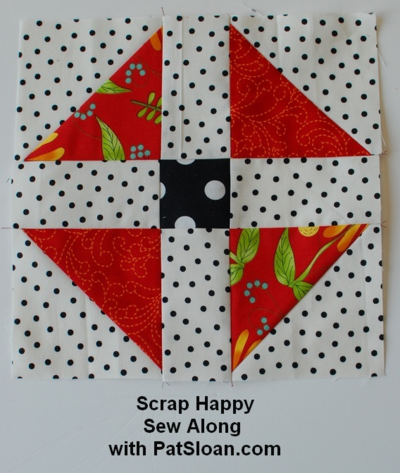 Pat sloan scrap busting sew along Shoofly block