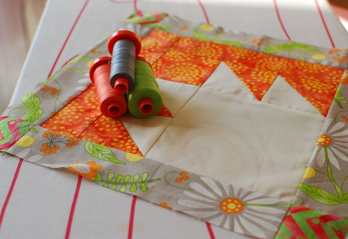 Pat sloan 2014 apr aurifil block with thread