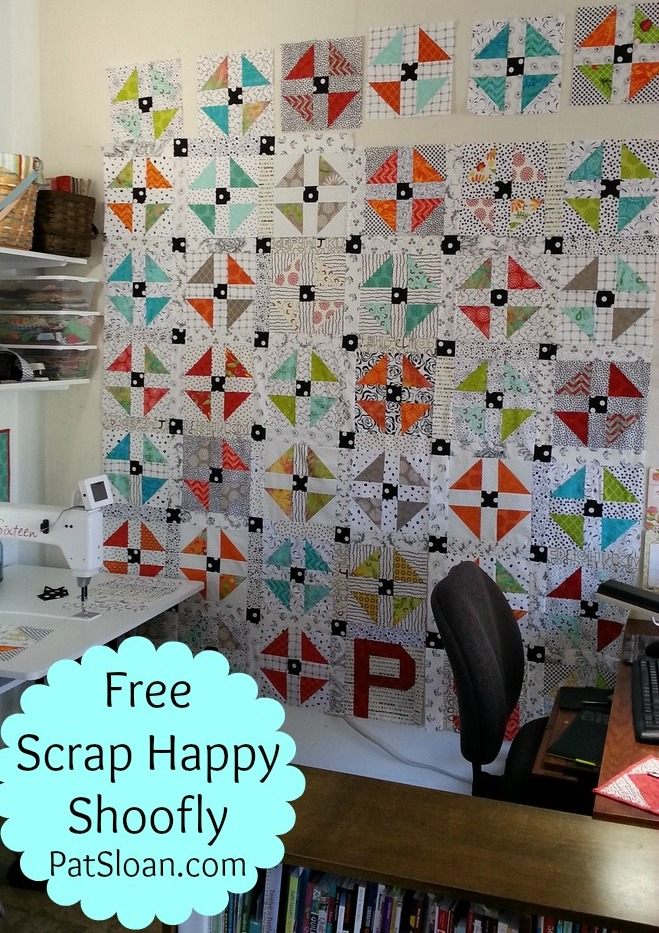 Pat Sloan Scrap Happy Shoofly quilt along