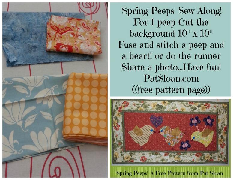 Pat sloan spring peep quilt along