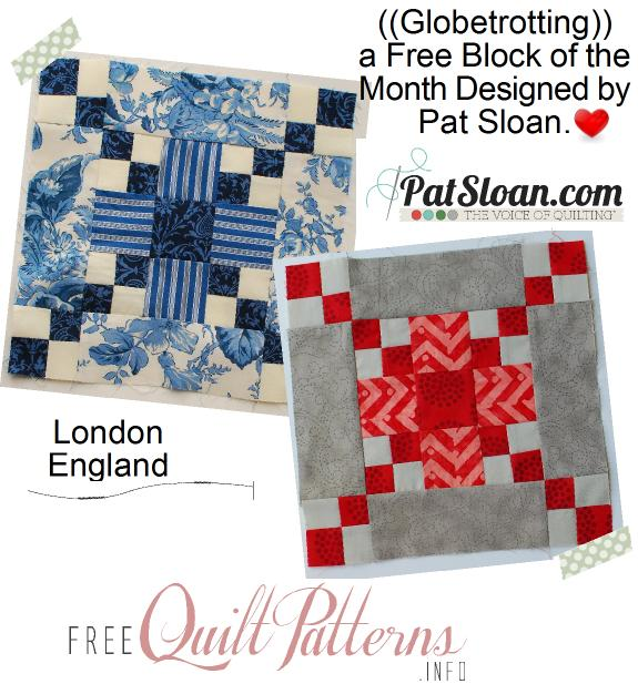 Pat sloan globetrotting block 5 button