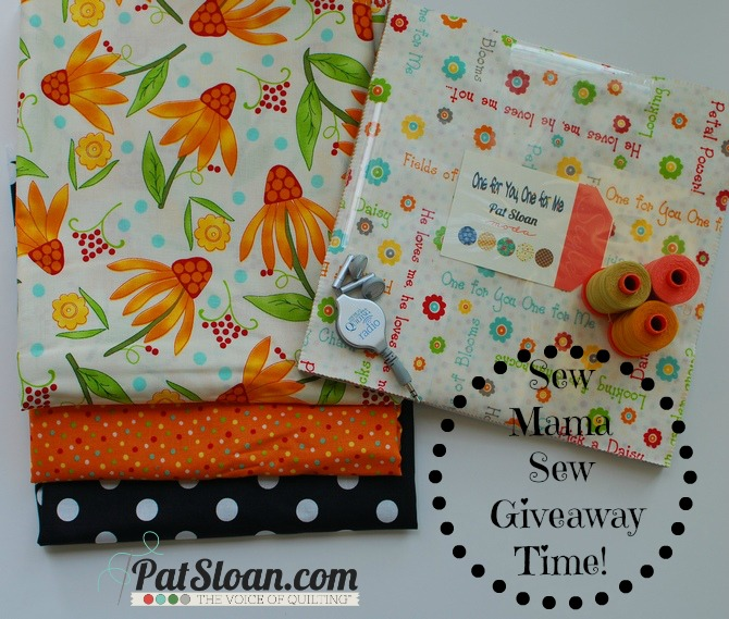 Pat sloan sew mama sew may 2014 giveaway