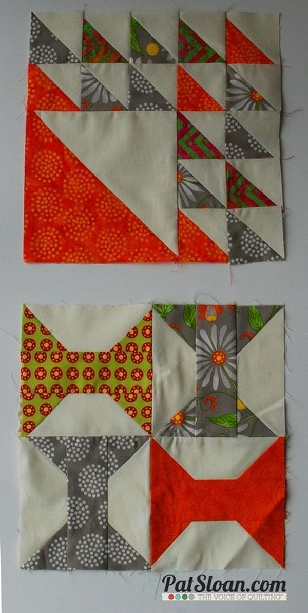 Pat Sloan Aurifil 2014 block 1 and 2