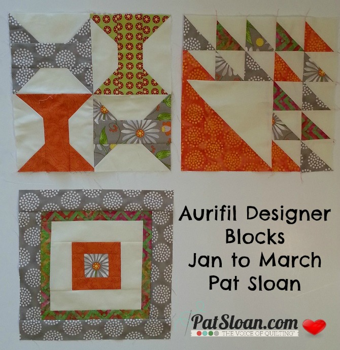 Pat sloan 2014 mar aurifil blocks jan to mar