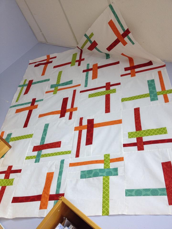 Feb made at Patchwork Fabrics pattern tortilla strips