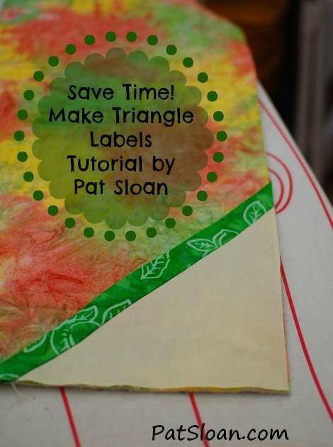 Pat Sloan triangle label tutorial