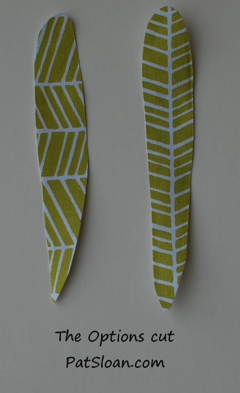 Pat sloan fussy cutting leaves 2