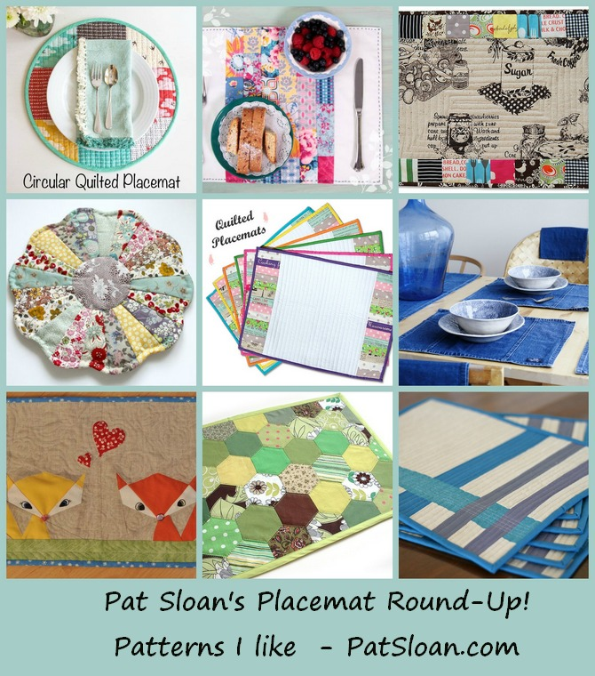 Pat sloan placemat round up