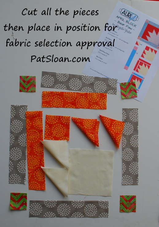 Pat sloan april 2014 aurifil block fabric selection