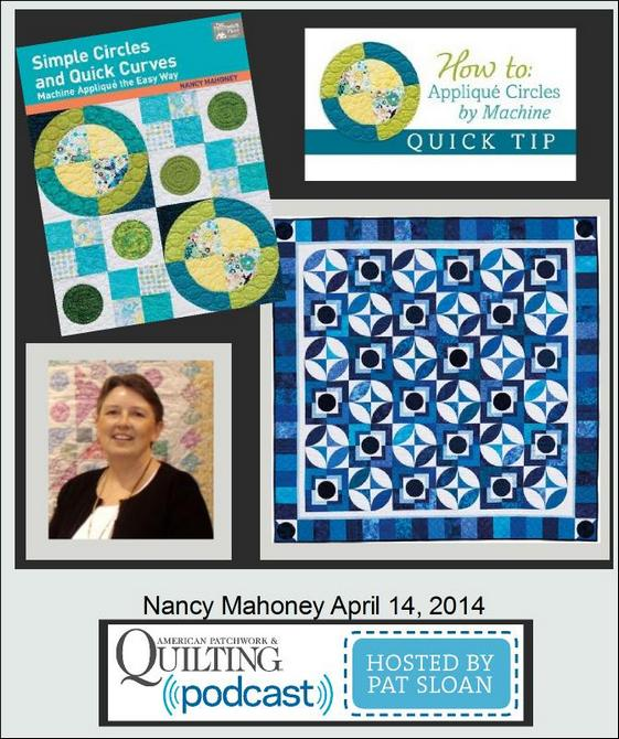 Pat Sloan American Patchwork and Quilting radio Nancy Mahoney apr guest