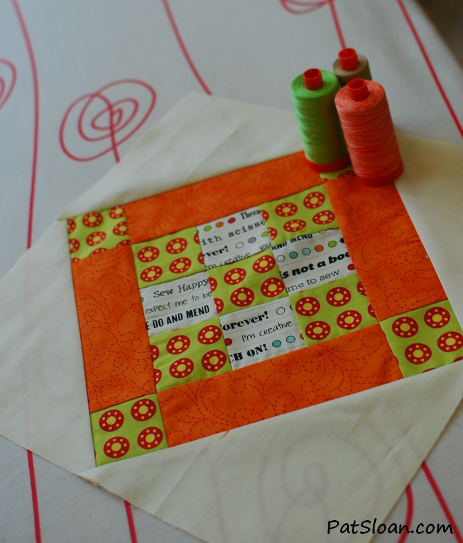 Pat sloan 2014 may aurifil block with thread