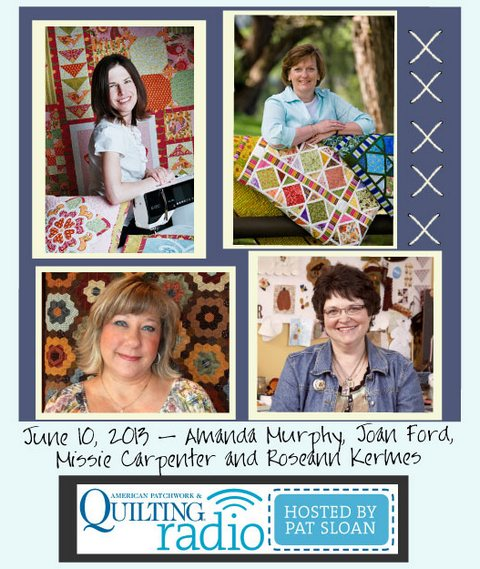 American Patchwork and Quilting Radio guest group button June 10 2013