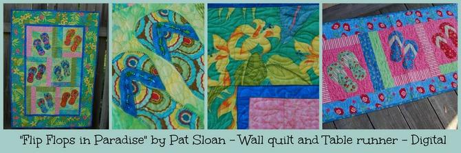 Pat sloan flip flops in Paradise digital bannersm