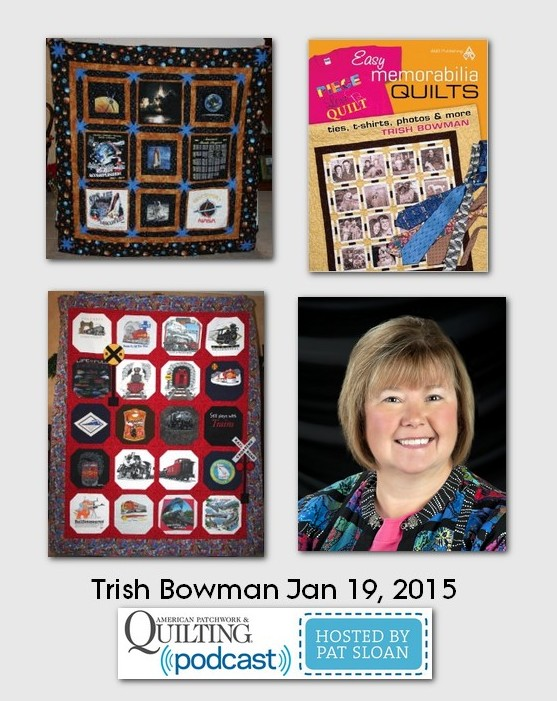 American Patchwork and Quilting Pocast guests Trish Brown Jan 2015