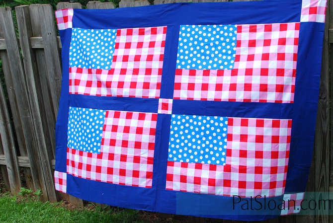 Flag quilt top given away 2sm