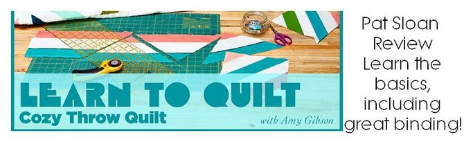 Pat sloan learn to quilt review