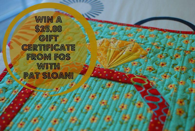 Pat sloan win a gift certificate