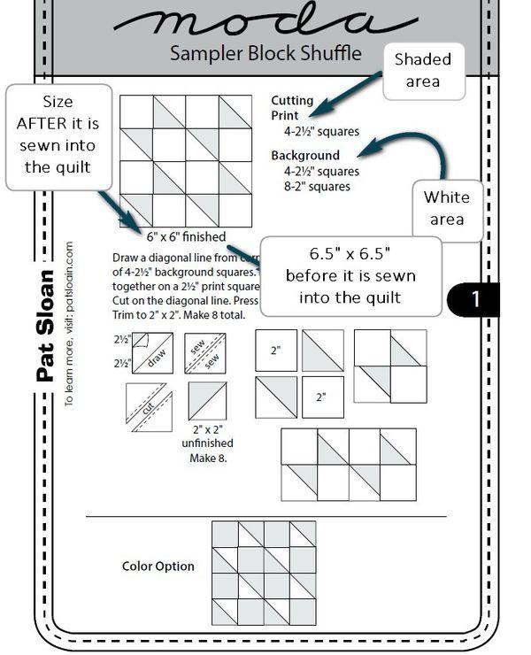 Pat sloan pattern 1a