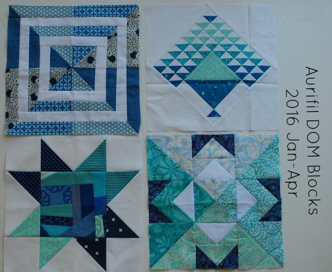 Pat sloan aurifil designer of the month blocks jan to april 2016 2