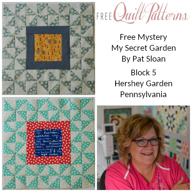 Pat Sloan My Secret Garden Block 5 button