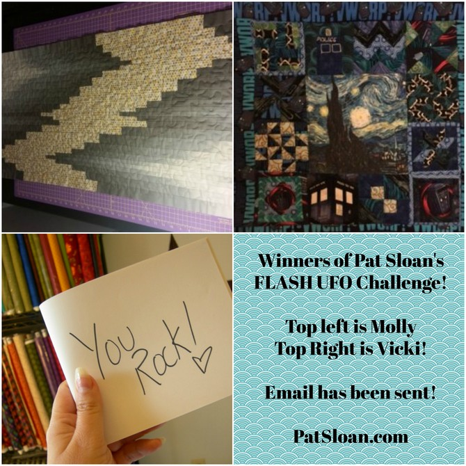 Pat Sloan June UFO Challenge Winners