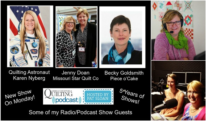Pat Sloan Radio show info collage