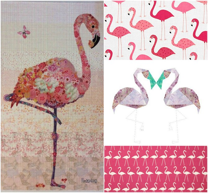 Pat sloan pink flamingo collage