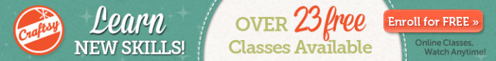 Craftsy banner free classes