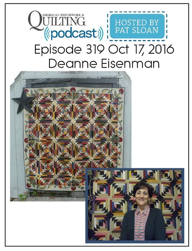 American Patchwork Quilting Pocast episode 319 Deanne Eisenman