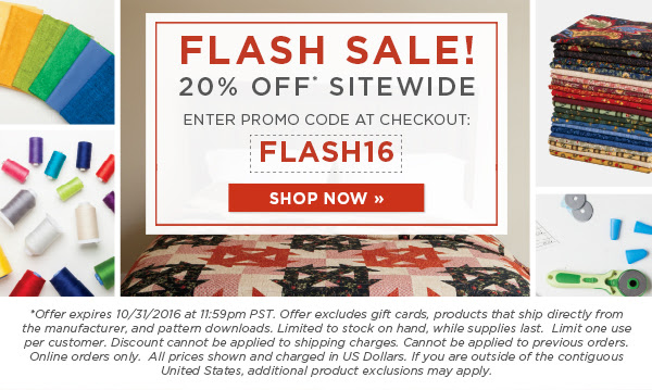 Flash sale 10 31