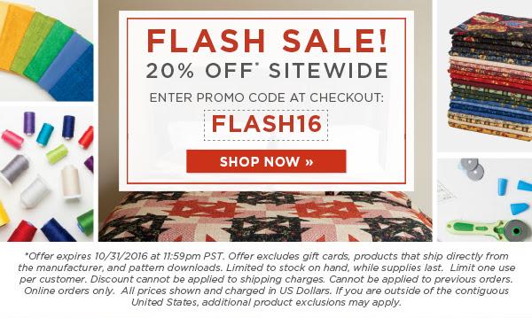 Flash sale 10 31