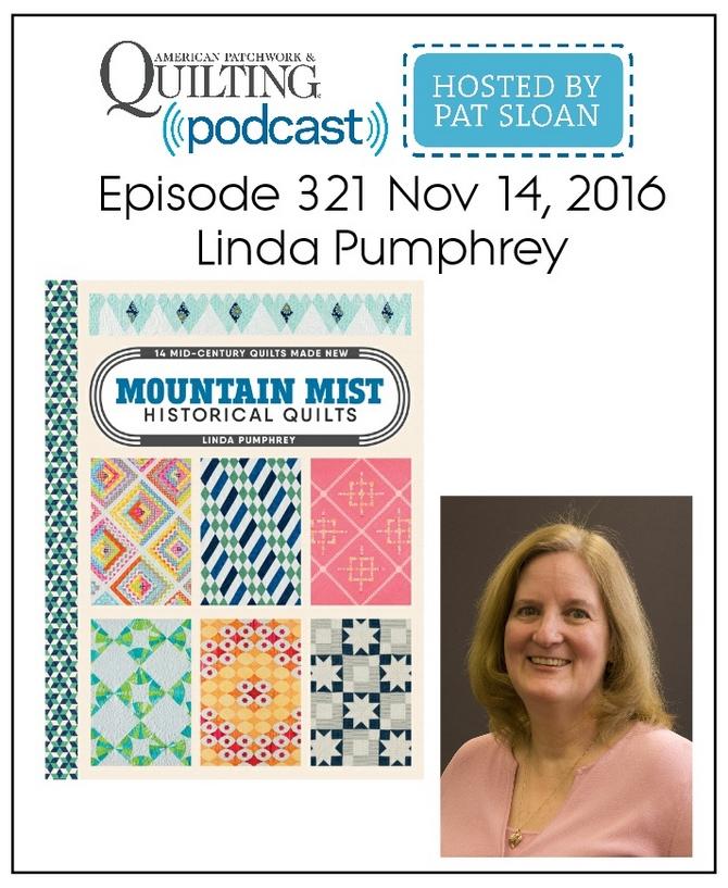 American Patchwork Quilting Pocast episode 321 Linda Pumphrey