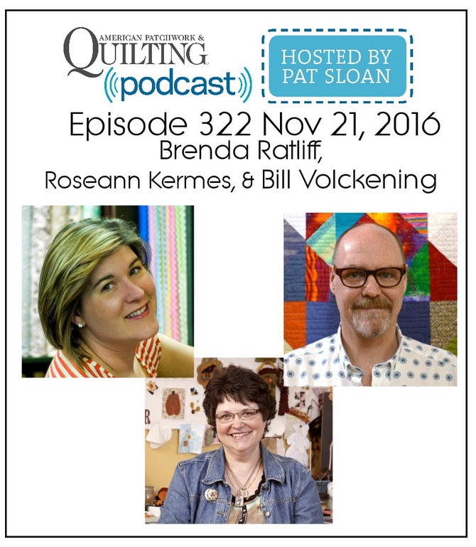 2 American Patchwork Quilting Pocast episode 322 Nov 21 2016