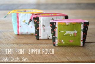 Amanda theme-print-zipper-pouch-tiger-lily