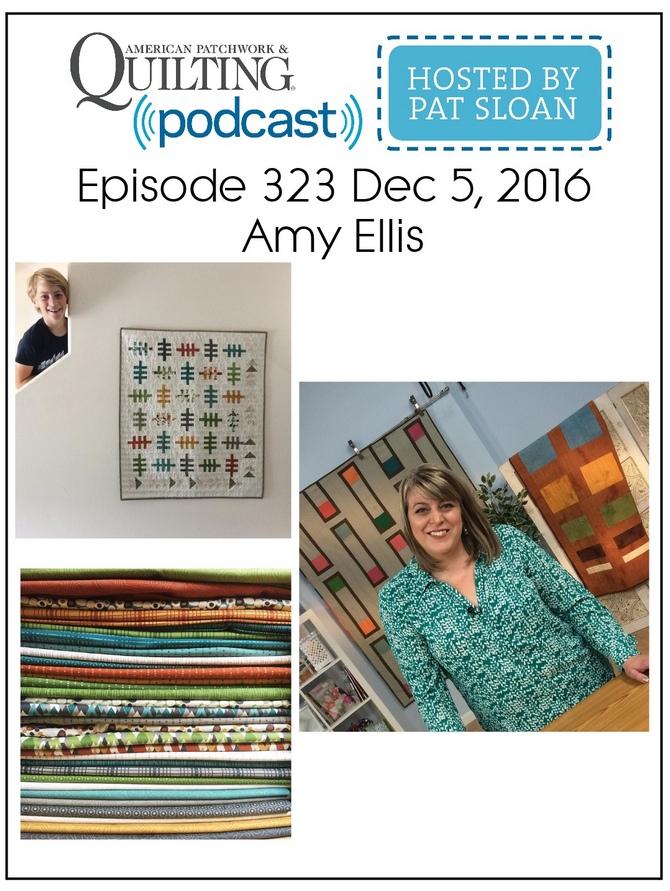American Patchwork Quilting Pocast episode 323 Amy Ellis