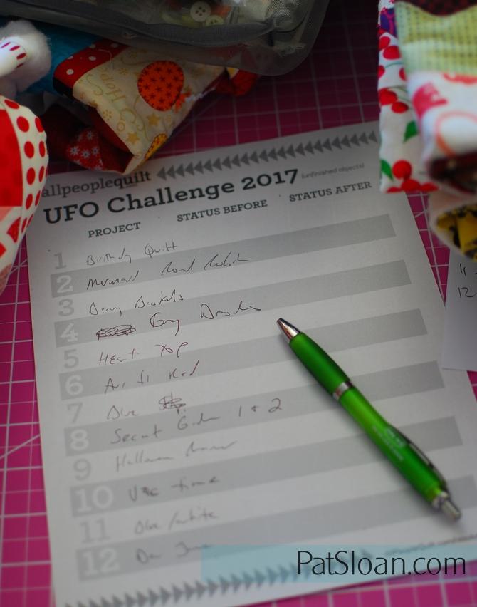 Pat Sloan UFO challenge list