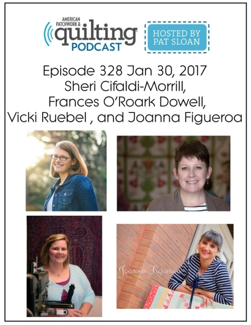 2 American Patchwork Quilting Pocast episode 328 Jan 30 2017