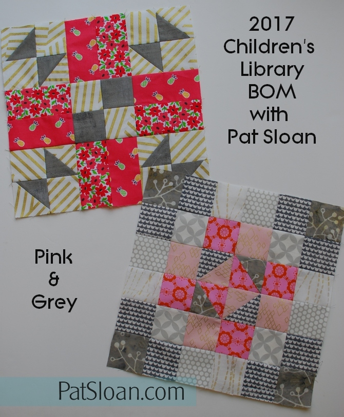 Pat Sloan Children's Library Block 2 pink