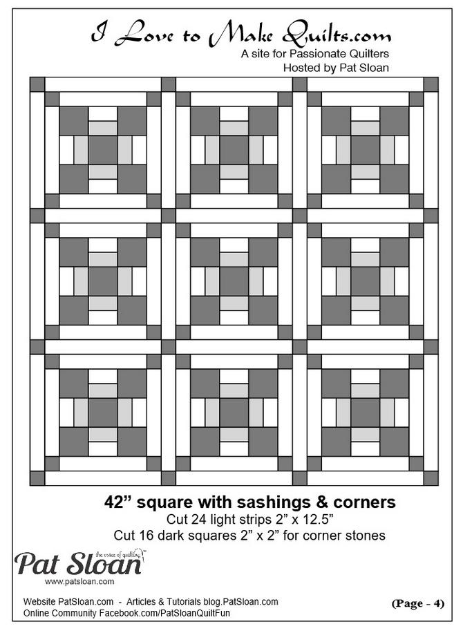 Pat Sloan Block 10 quilt layout Solstice Challenge