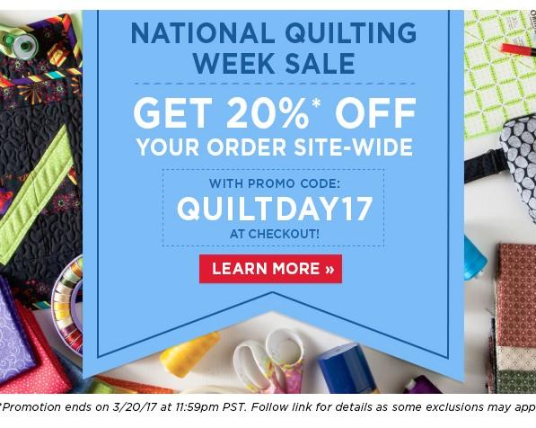 Quilt day sale