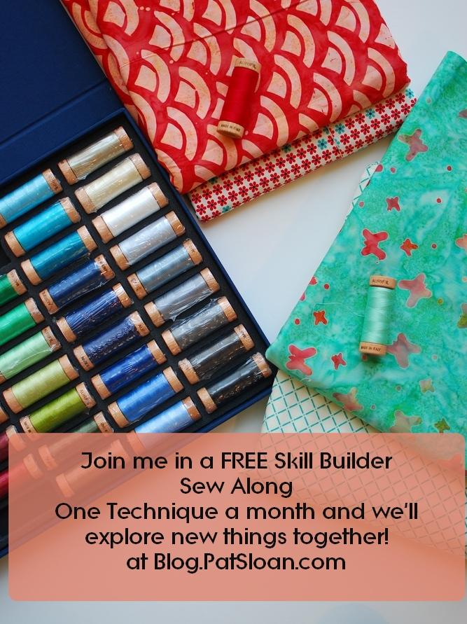 Pat sloan skill builder sew along button