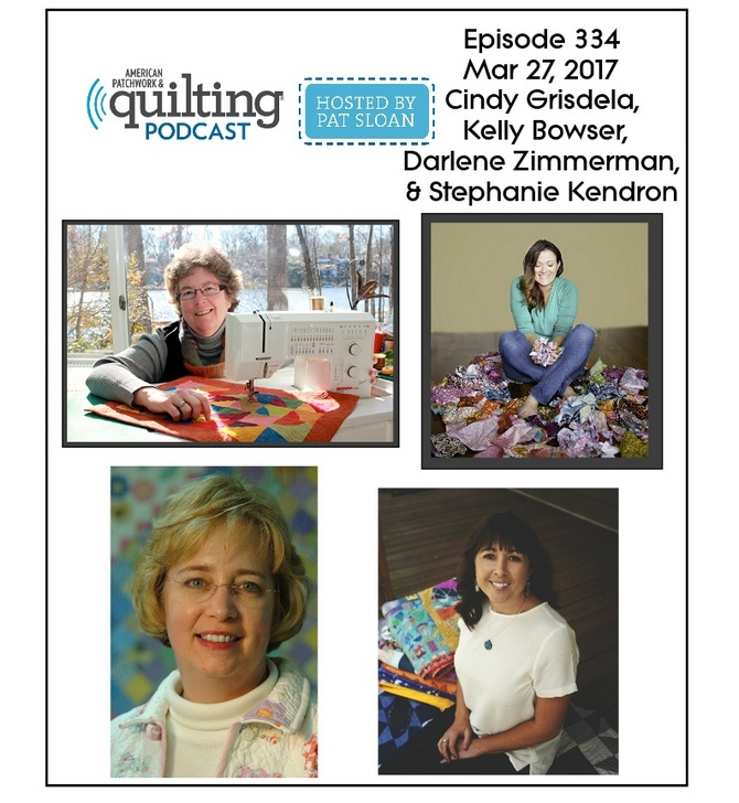 2 American Patchwork Quilting Pocast episode 335 Apr 3 2017