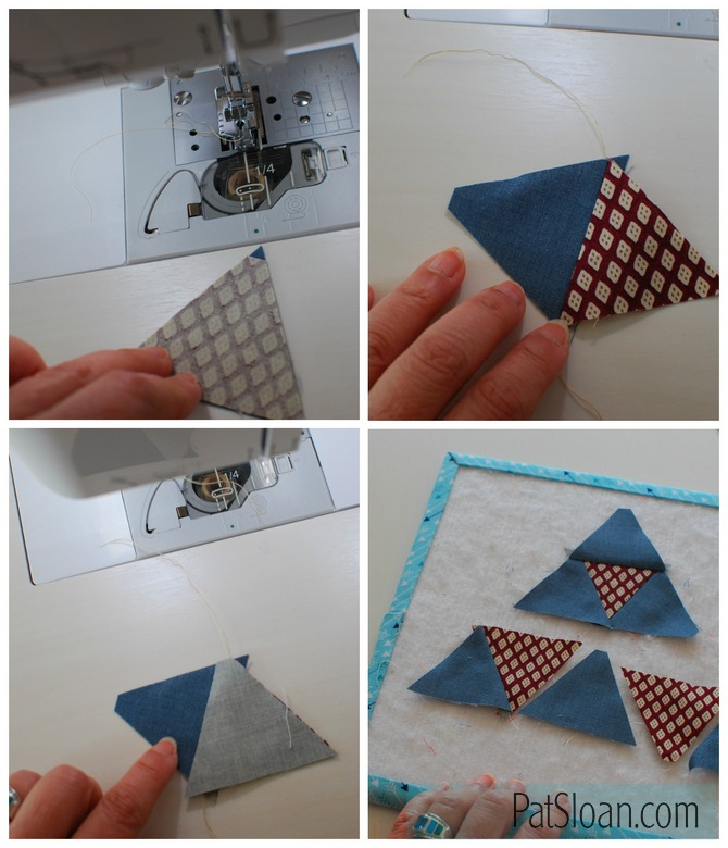 Pat Sloan Ruler sewing triangles