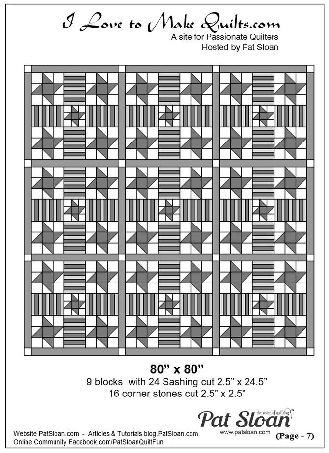 1 Pat Sloan Solstice block 19 quilt