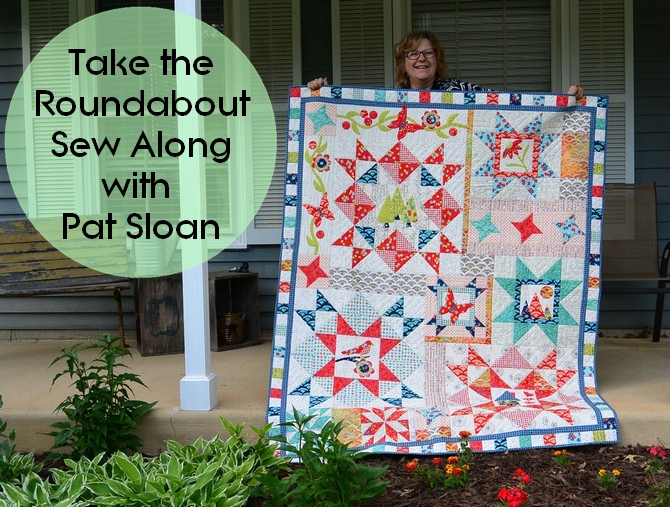 Pat Sloan Take the Roundabout sew along button