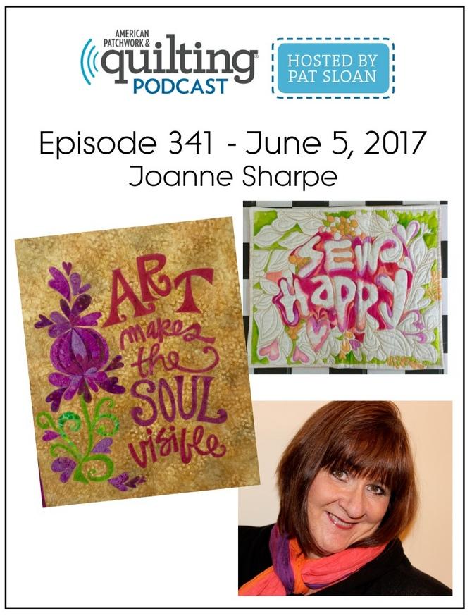 American Patchwork Quilting Pocast episode 341 Joanne Sharpe