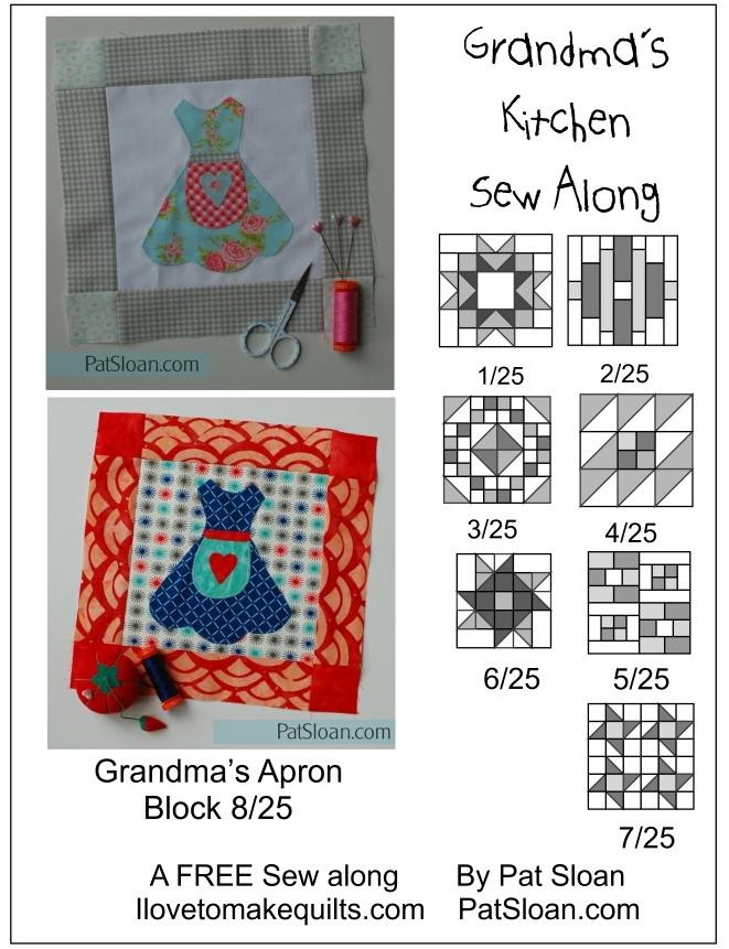 Pat Sloan Block 8 Grandmas Kitchen button