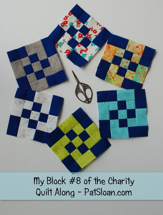 Pat Sloan Patchwork Charity block 8