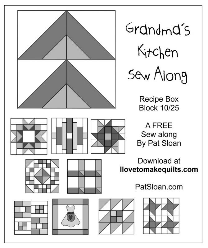 Pat Sloan Block 10 Grandmas Kitchen button