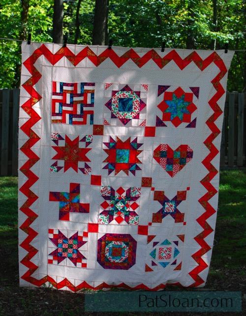 Pat Sloan Version of Aurifil 2013 Designer quilt